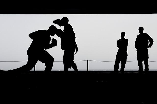 trénink v boxu