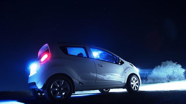 osvětlení auta